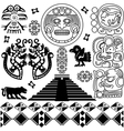 set ancient america small vector image