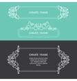 Set decorative frame vector image