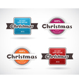 Set of Christmas labels vector image