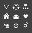 set of social network icons with cloud computing vector image vector image