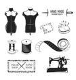 set vintage tailor labels emblems and designed vector image