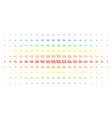 sinusoid waves spectral halftone grid vector image vector image