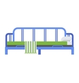 Sleeping bed vector image vector image