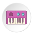 Synthesizer icon cartoon style vector image vector image
