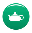 teapot icon green vector image