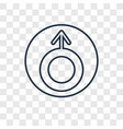 uranus concept linear icon isolated on vector image