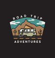 vintage road trip journey badge vector image vector image