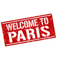 welcome to paris stamp vector image vector image