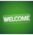 White Glowing Neon Welcome Sign vector image vector image