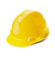 yellow hard hat isolated on white vector image