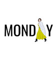 model monday outfit fashion vector image
