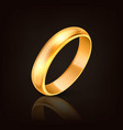 3d realistic gold metal wedding ring icon vector image vector image