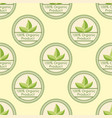 bio farm organic eco healthy food seamless pattern vector image vector image