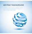 Blue sphere background vector image vector image