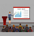 business people seminar group office employee and vector image vector image