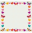 butterflies hearts border frame vector image vector image