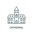 cathedral line icon linear concept vector image vector image