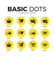 checkout flat icons set vector image vector image