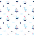 childish pattern with seagulls vector image vector image