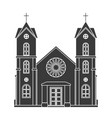 church silhouette christianity architecture house vector image vector image