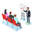 conference coaching and presenting report vector image