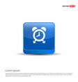 cuckoo clock icon - 3d blue button vector image