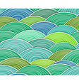 curled abstract green waves vector image vector image