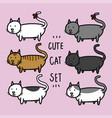 cute cats set cartoon doodle vector image