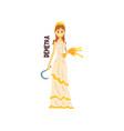 demetra olympian greek goddess ancient greece vector image