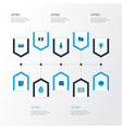 drink icons colored set with stand with glasses vector image vector image