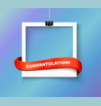 Enjoy every moment polaroid photo hanged vector image vector image