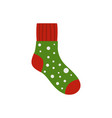 fluffy sock icon flat style vector image vector image