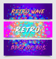 futuristic retro wave style party flyer template vector image vector image