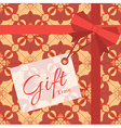 Gift with geometric patterns vector image vector image