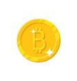 gold bitcoin coin cartoon style isolated vector image vector image
