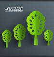 green eco neture tree vector image