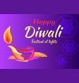 happy diwali festival of lights 2018 banner vector image vector image