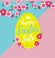 happy easter sale banner with paper cut easter vector image vector image
