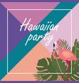 hawaiian party banner vector image vector image