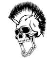 head punk skull vector image vector image