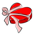 heart gift box on white background vector image