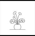 houseplant editable line vector image vector image