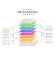 infographic template for business 6 steps modern vector image vector image