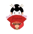 japanese culture beautiful geisha vector image vector image