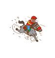 Jockey Horse Racing Cartoon vector image vector image