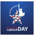labor day card design eps 10 vector image