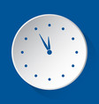 last minute clock - simple blue icon white button vector image vector image