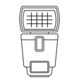 Lighting flash for camera icon outline style vector image vector image