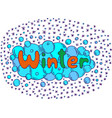 mandala and winter word doodle lettering colorful vector image vector image