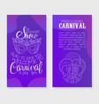 mardi gras carnival invitation card template vector image
